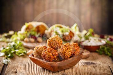 Fresh falafel balls