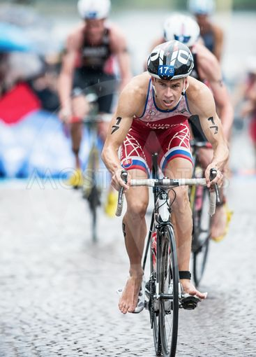 Richard Varga from Slovakia leading the race after the...