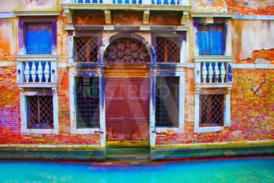italy,venice : gran canalel under the rainitalie, venise,...