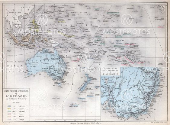 Michael Roberts N Kuva Vanha Kartta Oseania Austr Mostphotos