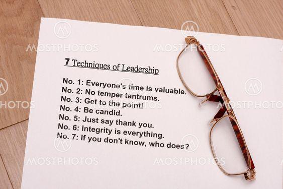 sju metoder för ledarskap