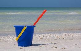 Bucket at beach