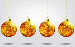 Christmas balls over elegant background. EPS 8