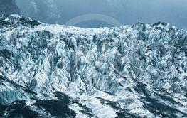 frozen ice in franz josef glacier new zealand