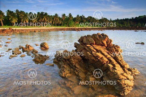 Sky and sea,Chumphon province, south of Thailand.