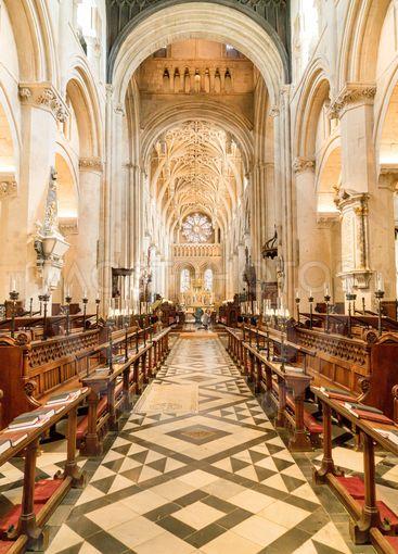 OXFORD, UK - AUG 29, 2019: Interior of University Church...