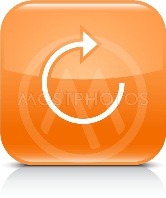 Orange arrow repeat reload refresh rotation sign