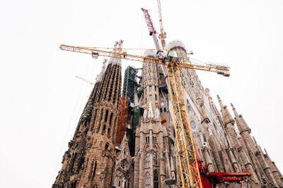 Facade of passions - Sagrada Familia in Barcelona.