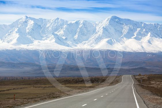 View of Chuysky Trakt on a background of the mountain...