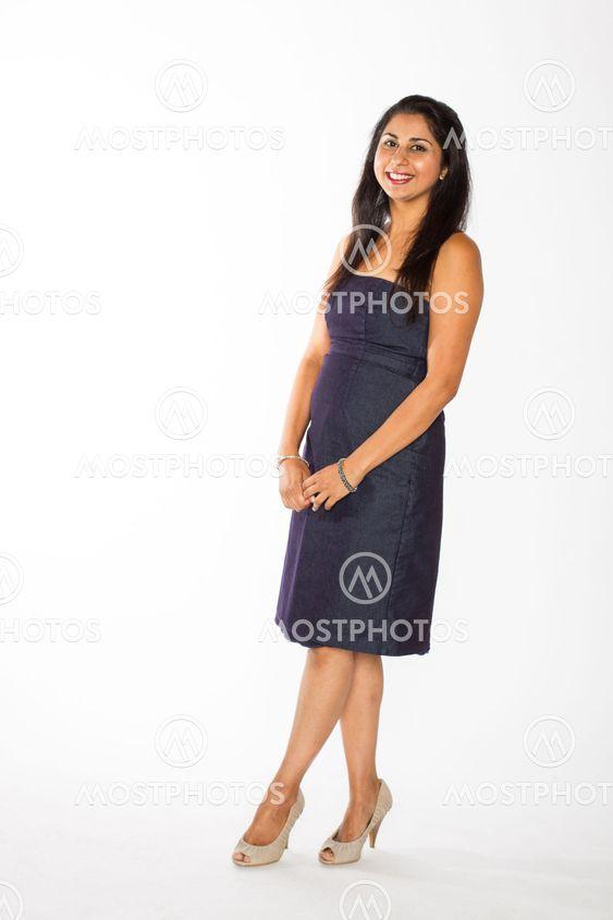 Pretty Indian Woman in blue Dress