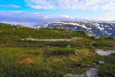 Mountain landscape in Norway.