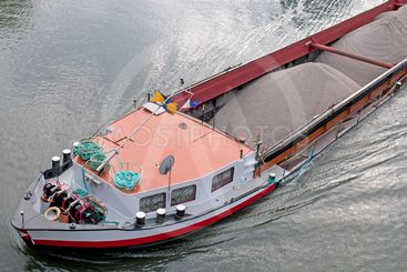 Barge with cargo