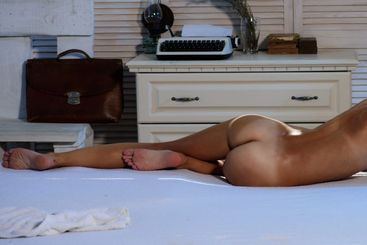 First sexual experience. Sensual slim fit girl relax in...