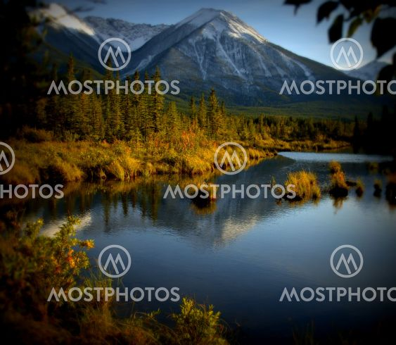 Reflections, Rocky Mountains in the fall