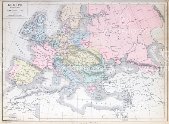 Old map of Europe 1815 - 1...\