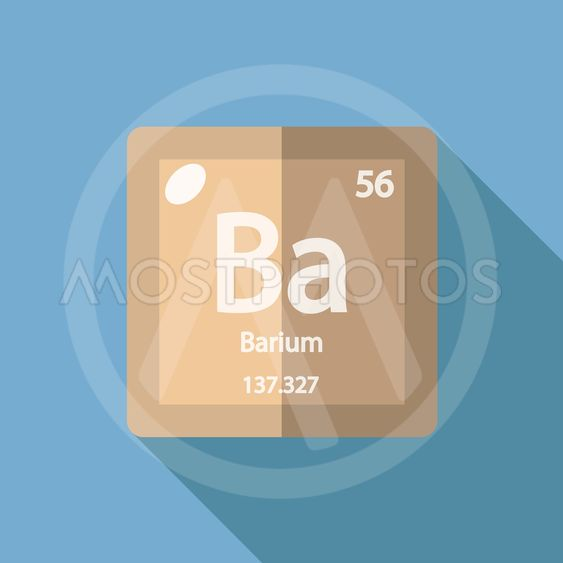 Chemical Element Barium Flat By Yuriy Borisov Mostphotos