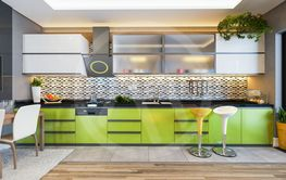 green color kitchen design decor idea