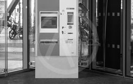 DB Bahn Fahrkarten ticket machine for German railways in...
