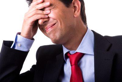 businessman headache