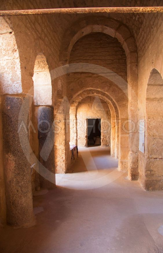 Inside of fortress ribat of Sousse in Tunisia