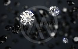 black and white diamonds on a dark abstract background