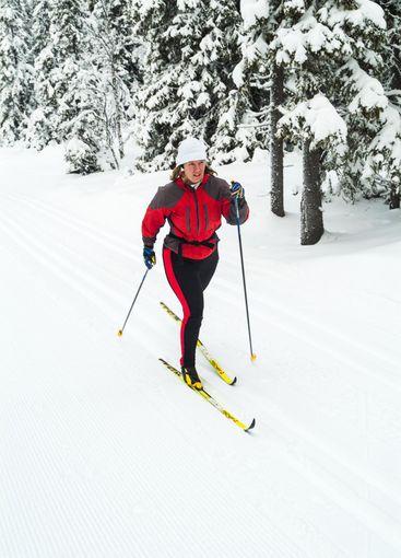 Cross country skier at Lövåsen, Dalarna, Sweden.
