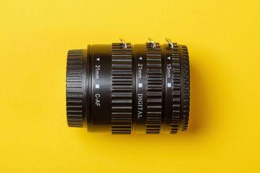 set of macro rings  for photo lens