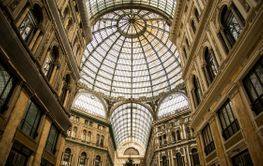 Galleria Umberto I. Elegant, glass-and-iron covered...