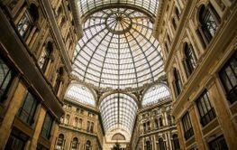 Galleria Umberto I. Elegant, glass-and-iron covered...