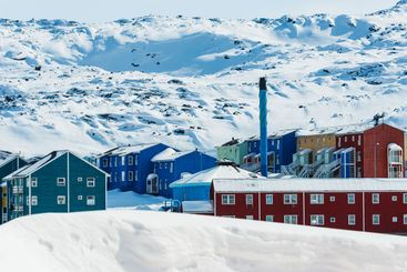 Ilulissat is a coastal town in western Greenland