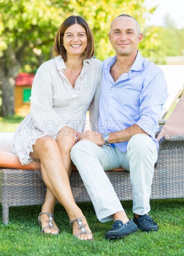 Smiling Mature Couple Outdoor