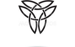 Celtic knot symbol vector illustration