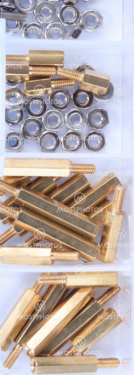 Brass Standoff Spacer Male and Female set in plastic...