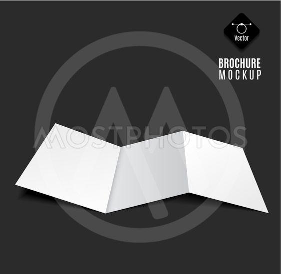blank tri-fold brochure
