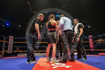 Female proffesional boxing between Angelique Hernandez...