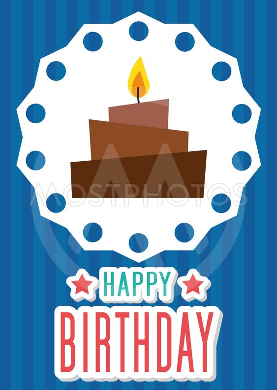 Poster Card Illustration Graphic Vector Happy Birthday To...