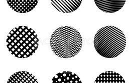 Circle shapes seamless vector pattern - Vector