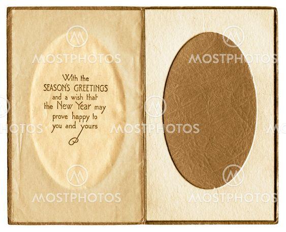 Original vintage christmas card photo frame inner. Great...