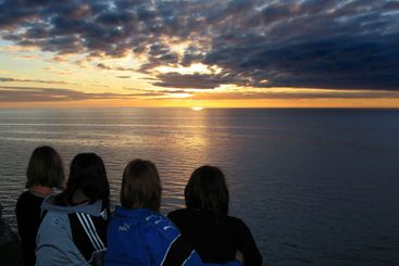 Watching the sunset Over Gotland