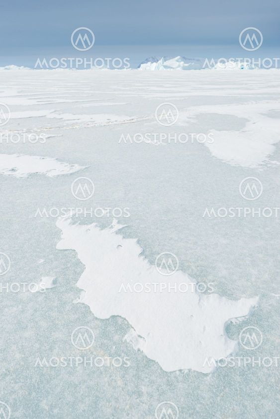 Formations in ice on frozen sea