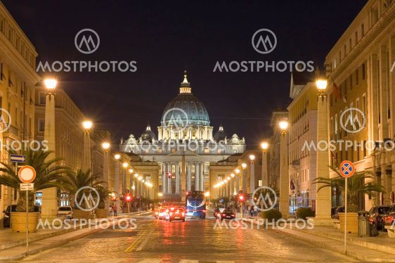 St. Peters Basilica night