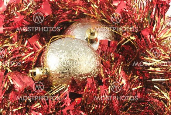 Red-golden Christmass-tree decoration