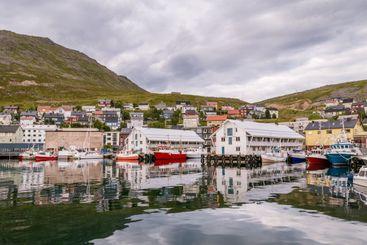 Port of Honningsvag in Norway