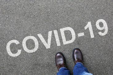 COVID-19 COVID corona virus coronavirus man business...