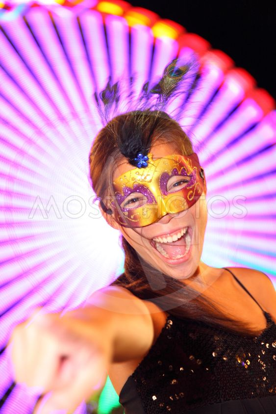 Santa Cruz de Tenerife Carnival: Party woman in costume