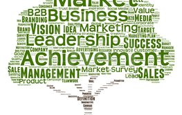 Concept or conceptual green tree leadership marketing or...