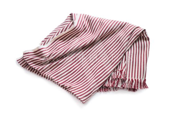 Striped plaid isolated on white Picnic summer rest