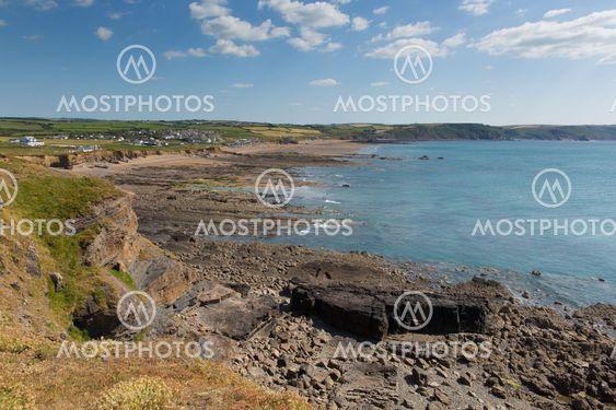 Widemouth Bay near Bude North Cornwall England UK on a...
