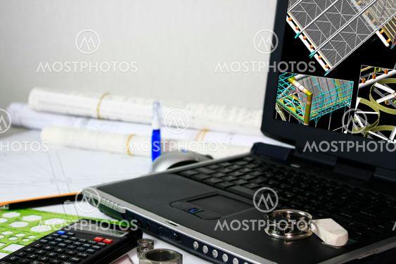 3D-model af varmeveksler