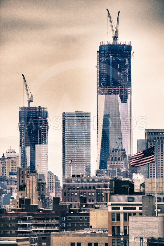 Tall Buildings under contruction in World Trade Center